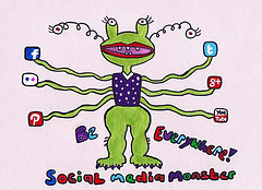 social media monster by AlisonQuine, on Flickr