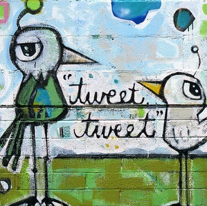Twittering Tweets Mural by cobalt123, on Flickr