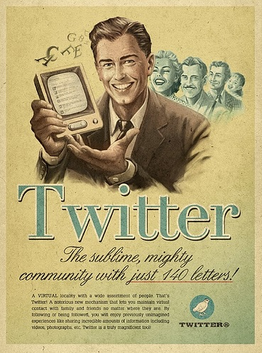 Twitter vintage ad by zio Paolino, on Flickr
