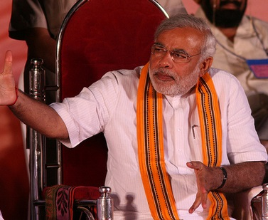Narendra Modi at a BJP rally by Al Jazeera English, on Flickr