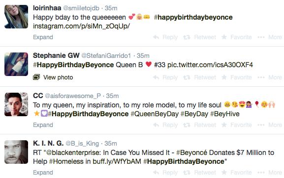 birthday hashtags Queen B's Birthday: #HappyBirthdayBeyonce birthday hashtags